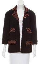 Chanel Tweed-Accented Wool Blazer