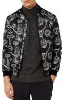 Topman Poppy Print Bomber Jacket
