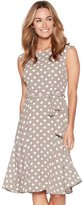 M&Co Tie front spot print dress