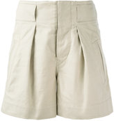 Etoile Isabel Marant 'Ivy' pleat shorts - women - Cotton/Linen/Flax - 38