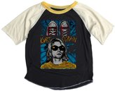 Rowdy Sprout Youth Boy's Kurt Cobain Short Sleeve Raglan Tee