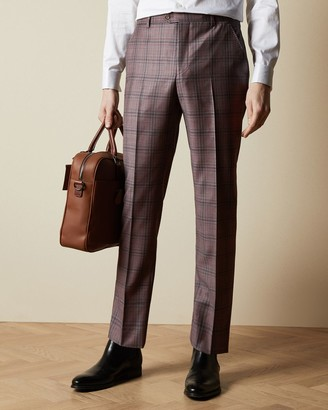 Ted Baker Fine Wool Checked Trousers