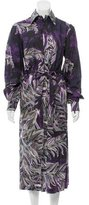 Tome Printed Maxi Shirtdress w/ Tags