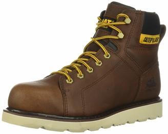 "Caterpillar Journeyman 6"" Waterproof TX CSA Steel Toe Work Boot Men 7 Oak"
