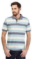 Mantaray Big And Tall Blue Textured Stripe Print Polo Shirt
