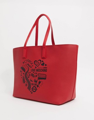 Love Moschino London tote bag in red