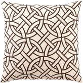 D.L. Rhein Brown Circle Link Pillow