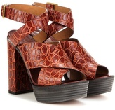 Chloé Embossed leather sandals