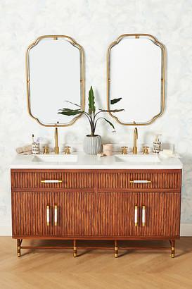 Anthropologie Deluxe Tamboured Double Bathroom Vanity By in Brown