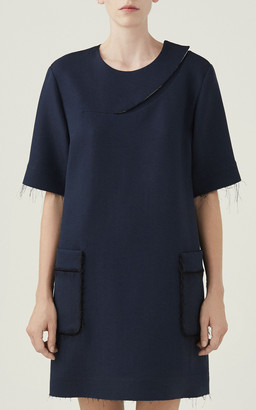 Marina Moscone Patchwork Crepe Tunic