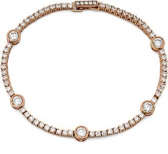 Crislu 18K Rose Gold & Silver Cz Tennis Bracelet
