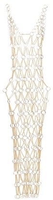 Paco Rabanne Chainmail Maxi Dress - Womens - Gold