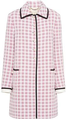 Miu Miu Straight Fit Tweed Coat