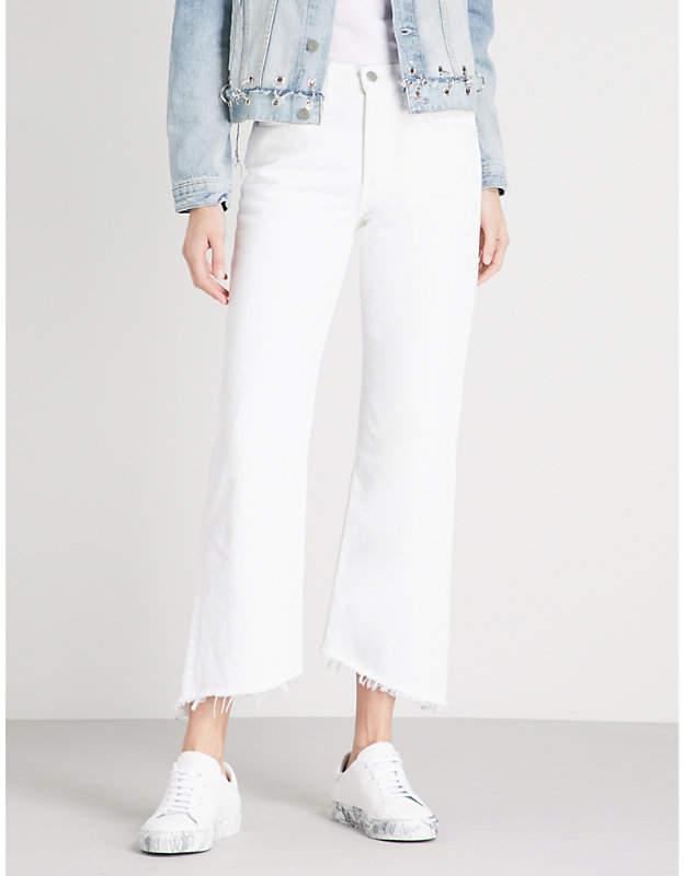 GRLFRND Dahl straight cropped jeans