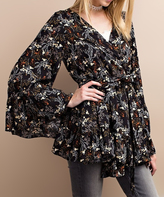 Jane Black Floral Wrap Tunic
