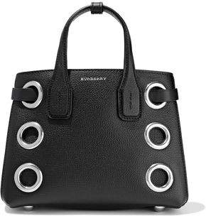 Burberry Eyelet-embellished Textured-leather Tote
