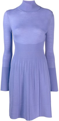 Versace Pre Owned Turtleneck Knitted Dress