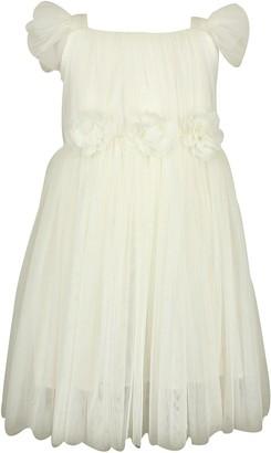 Popatu Flutter Sleeve Tulle Dress