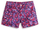 Aqua Girls' Floral Print Shorts - Sizes 7-16