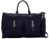 hook + ALBERT Navy Canvas Garment Weekend Bag
