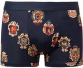 Dolce & Gabbana Printed Cotton-jersey Boxer Briefs - Midnight blue