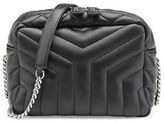 Saint Laurent Monogram Y-Quilted Small Bowling Bag