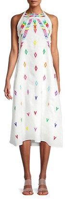 All Things Mochi Embroidered Linen Dress