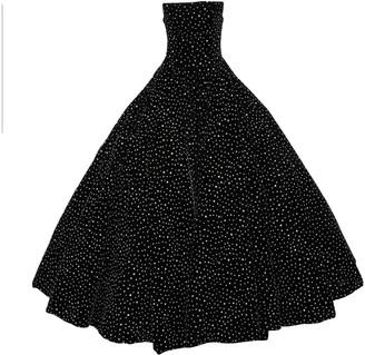 Christian Siriano Black Velvet Dress for Women