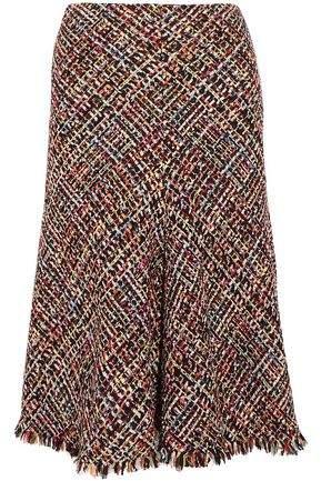 Alexander McQueen Fringed Tweed Skirt