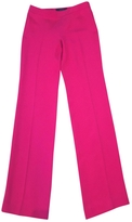 Gucci Dark pink silk trousers