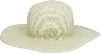 San Diego Hat Company Women's Cotton Crochet 4 Inch Brim Floppy Hat