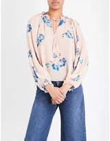 Ulla Johnson Sarna floral-print silk-chiffon blouse