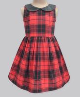 Scottish Valentine Plaid Pixie Dress - Infant Toddler & Girls
