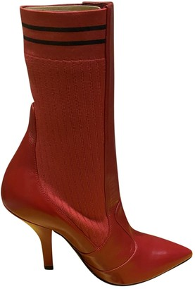 Fendi Red Leather Boots