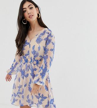 Y.A.S Petite long sleeve floral tea dress