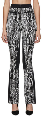 Thierry Mugler Black and White Tapestry Trousers
