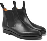 Edward Green Newmarket Grained-leather Chelsea Boots - Black