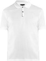 Lanvin Embroidered cotton-piqué polo shirt