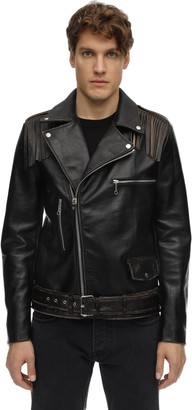 Htc Los Angeles Leather Biker Jacket