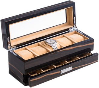 Bey-Berk Lacquered Wood 5-Watch Box