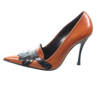 Alexander McQueen Brown Leather Heels