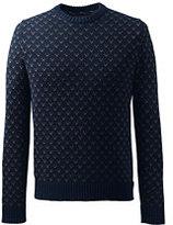 Classic Men's Tall Cotton Drifter Birdseye Crewneck Sweater-Coffee Bean Marl