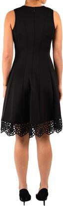 Donna Ricco Scalloped Lace Hem Dress