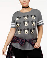 Hybrid Trendy Plus Size Mickey Mouse Graphic T-Shirt