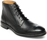 Cole Haan Black Williams Welt Wingtip Boots