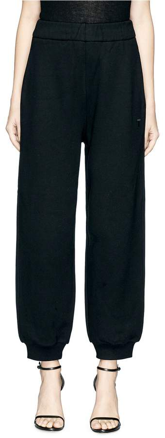 Alexander Wang Puffed cropped sweatpants