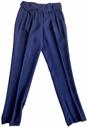 Vionnet Blue Silk Trousers for Women