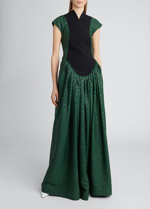 Loewe Flower Jacquard Bib Dress