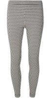 Dorothy Perkins Womens Grey Column Geometric Skinny Stretch Trousers- Grey