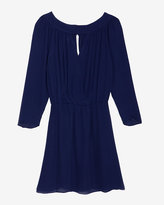 Parker Keyhole Georgette Wrap Dress